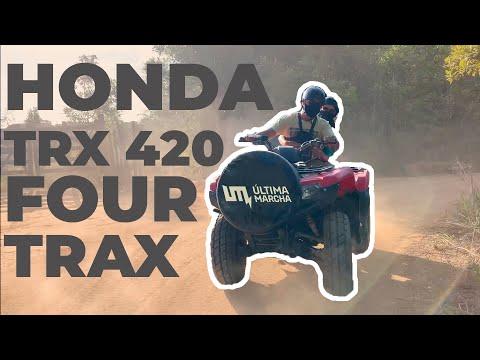 FÉRIAS? ACELERAMOS O HONDA TRX 420 FOUR TRAX