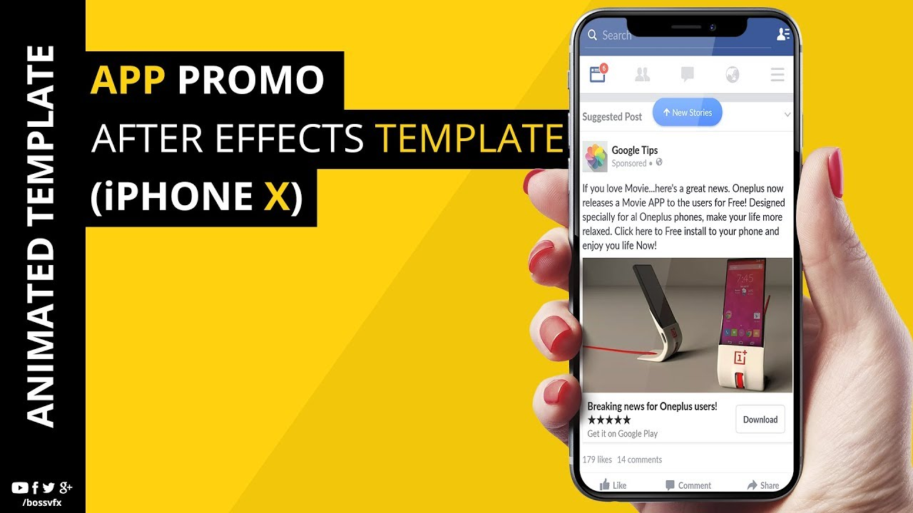 App Promo Iphone X Template After Effects Youtube