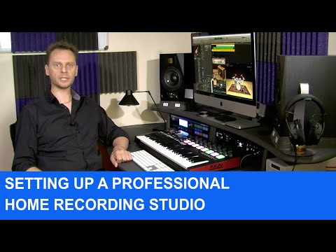 How To Set Up A Professional Grade Home Recording Studio