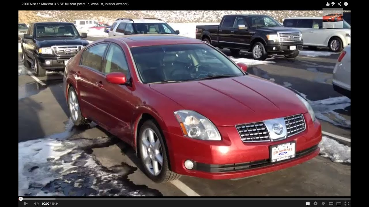 High Quality 2006 Nissan Maxima 3.5 SE Full Tour (start Up, Exhaust, Interior, Exterior)    YouTube