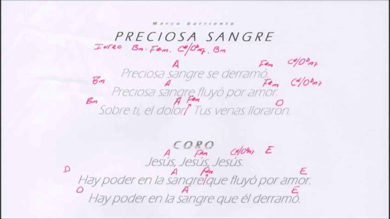 Preciosa Sangre Marco Barrientos - Letras y Acordes Carlos - YouTube