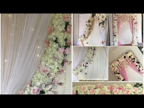 DIY- Pool Noodle Backdrop Decor Diy- Pool Noodle garland Diy- bridal and wedding Decor