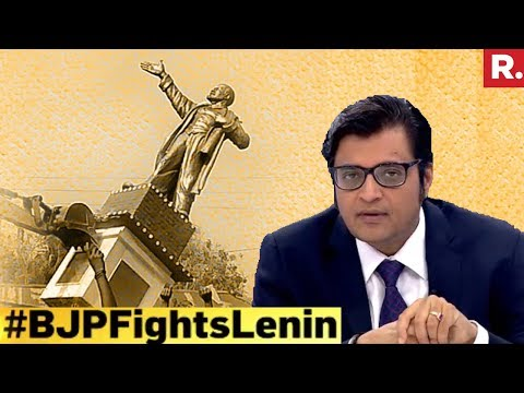 Left Vs Right Over Lenin Statues | The Debate With Arnab Goswami