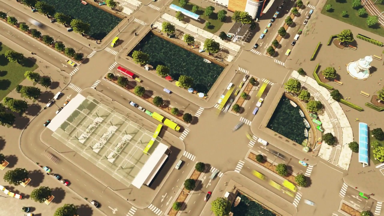 Download [Cities: Skylines] Downtown crossing timelapse