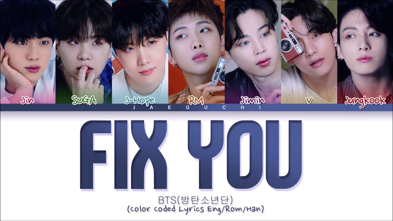 BTS (방탄소년단) - Fix You (Cover) (Color Coded Lyrics)