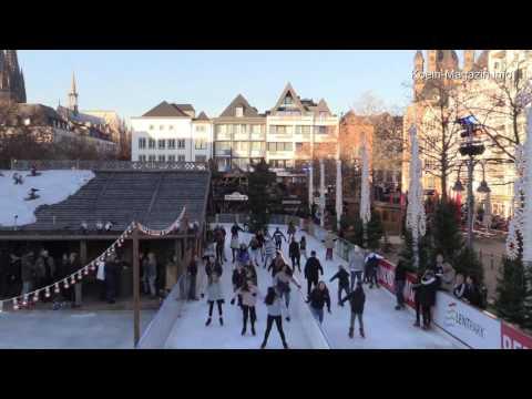 Eislaufen Köln Heumarkt / Ice Skating Cologne
