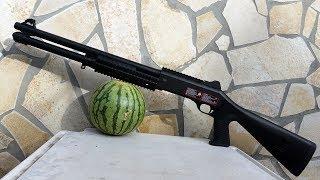 SOFTAIR SHOTGUN Set für ANFÄNGER! - Review und Test schießen vs Wassermelone | Nuprol mit Hülsen