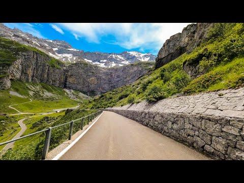 Driving the Klausen Pass, Switzerland