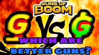 Guns of Boom: GOLD guns VS GUNBUCKS guns