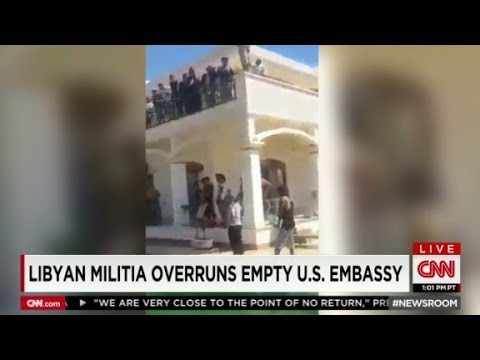 Libya militia inside U.S. Embassy compound