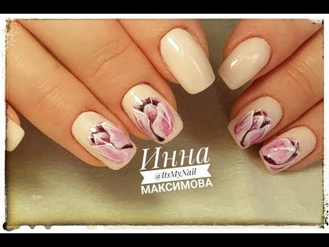 Весенний дизайн ногтей гель лак