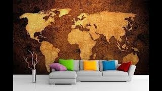 моя большая любовь Карта Мира в Интерьере