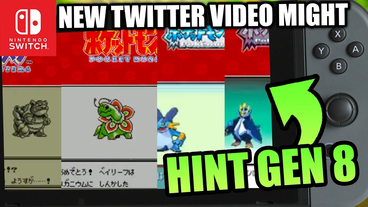 Pokemon Switch 2019 Generation 8 New Pokemon Twitter Account