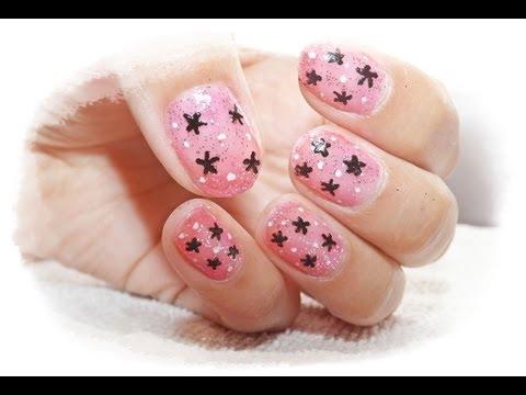 Diseño De Uñas Con Estrellas Youtube