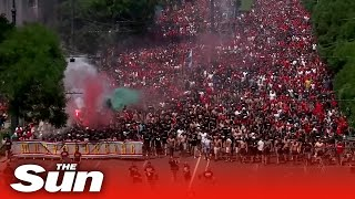 Thousands of football fans march to Hungary s Euro 2020 clash against France