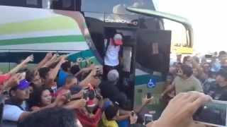 Jogadores do Flamengo são ovacionados em Salgueiro
