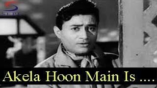 akela hoon main is duniya mein mohammed rafi baat ek raat ki dev anand johnny walker