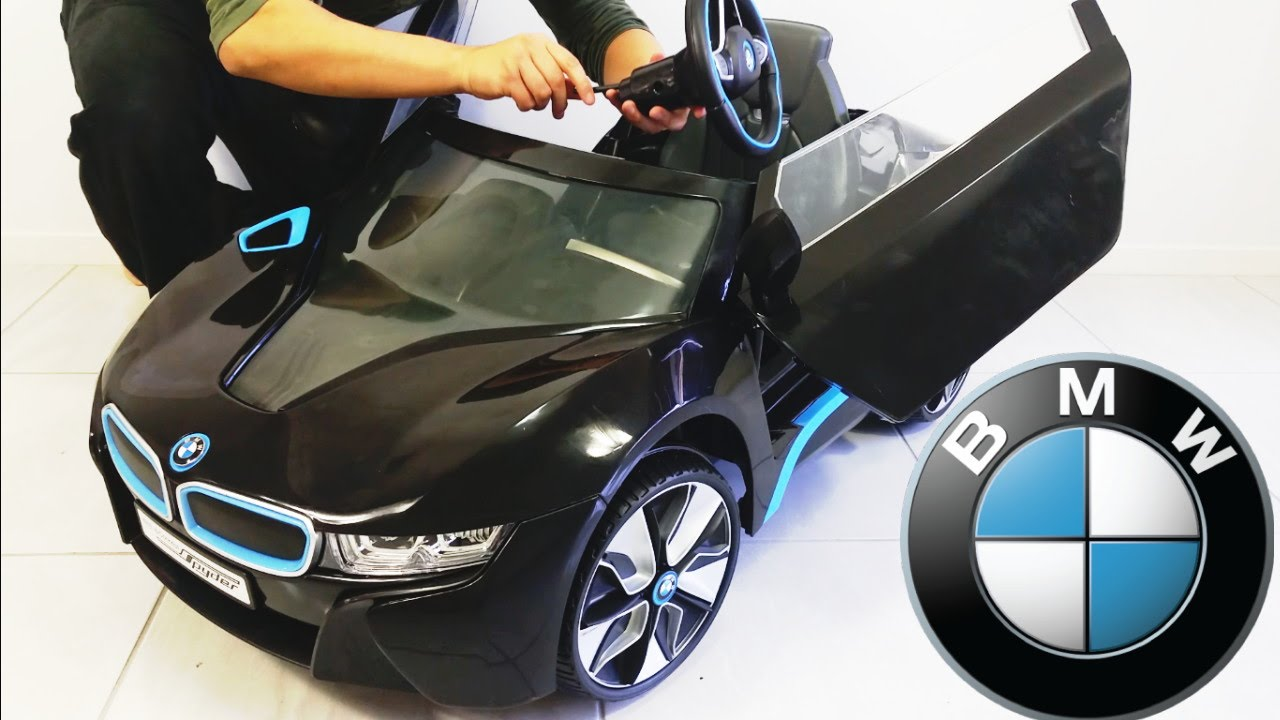 Bmw I8 Spyder Ride On Car Rc 6v Electric Assembly Diy Unboxing