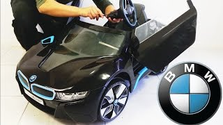 bmw i8 spyder ride on car rc 6v electric assembly diy unboxing rollplay
