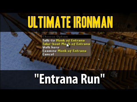 ultimate ironman mode series entrana run osrs youtube