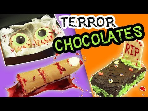 3 DIY BLOODY CHOCOLATES FOR HALLOWEEN - 3 DIY TERROR OF CHOCOLATE | aPasos Crafts DIY