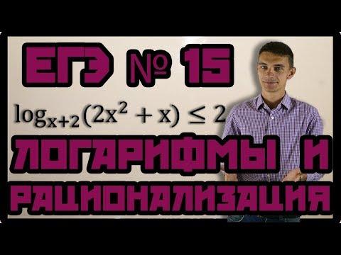 Неравенства 3. Логарифмические неравенства - метод рационализации. ЕГЭ №15