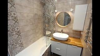 Обзор готового ремонта ванной комнаты, от начала до конца
