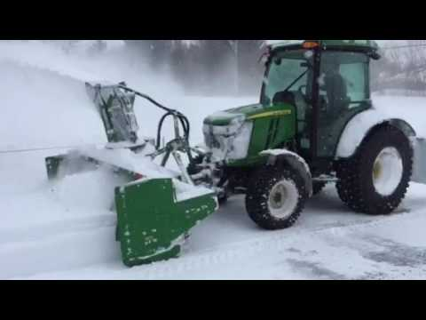 4066r Front Pto And Front Snow Blower Youtube