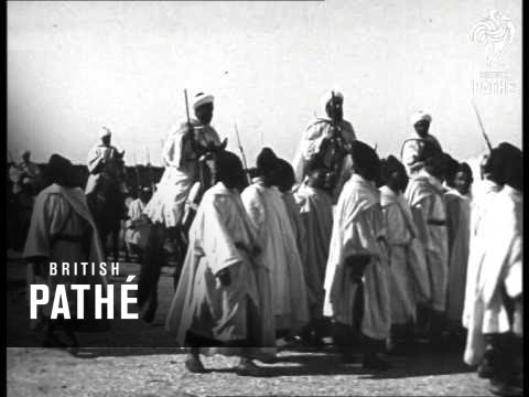 Morocco's Sultan Mohammed V In Procession  (1927)