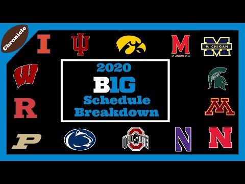2020 Big Ten Schedule Breakdown