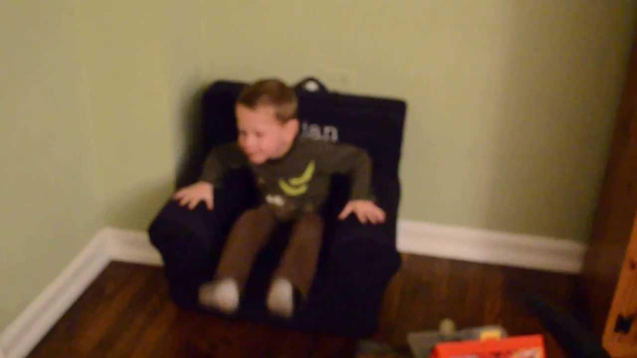 Julian Likes His Pottery Barn Kids Anywhere Chair  sc 1 st  YouTube & Julian Likes His Pottery Barn Kids Anywhere Chair - YouTube