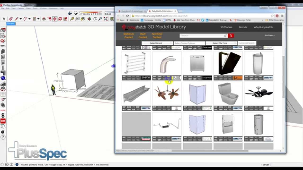 Scale tool for Sketchup Plug in by RubySketch Free