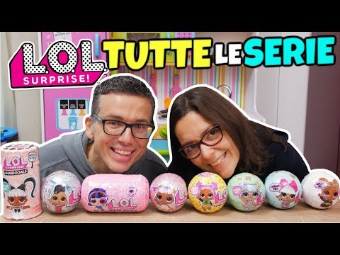 LOL SURPRISE TUTTE LE SERIE: UNBOXING dalla 1 alle HAIRGOALS