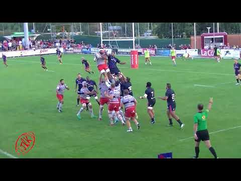 VIDEO 2ème mi-temps match amical OYONNAX - STADE FRANCAIS le 12.08.17 à NYON