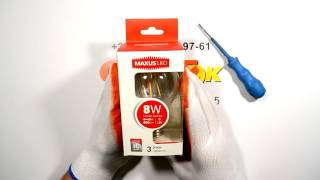 Лампа светодиодная 8W 3000K 220V Е27 A60 1-LED-565 Maxus(Лампа светодиодная 8W 3000K 220V Е27 A60 1-LED-565 Maxus. Код: 19860., 2016-08-04T01:17:03.000Z)