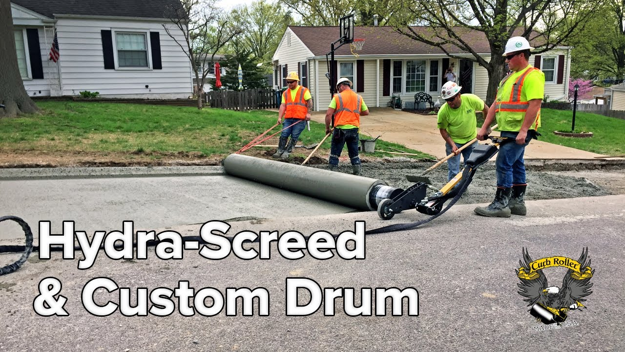 Hydra-Screed Makes Street and Curb Combo a Breeze
