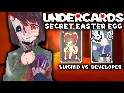 SECRET UNDERCARDS EASTER EGG! SANS KILLS CHARA! (GET DUNKED ON!) - UNDERCARDS LUIGIKID VS. DEVELOPER