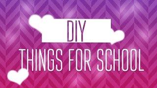 DIY:things for school/by Катюха Морозова (part1)