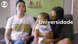 Caderno Globo Primeira Infância: Ingrid e Raoni usam a leitura para estimular o filho
