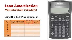 Amortization Schedule using BA II Plus