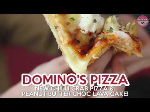 Domino's Pizza - Chilli Crab Pizza And Peanut Butter Chocolate Lava Cake