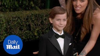 'Room' star Jacob Tremblay steals the show at Golden Globes - Daily Mail