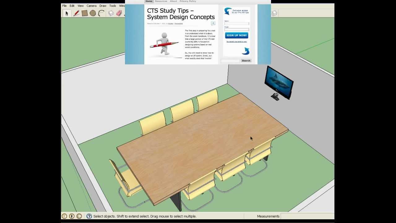 3D AV System Design With Google Sketchup