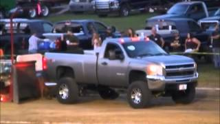 STREET STOCK DIESEL TRUCKS AT THE FAYETTE COUNTY, INDIANA CONNERSVILLE FREE FAIR PULL AUG 2, 20154