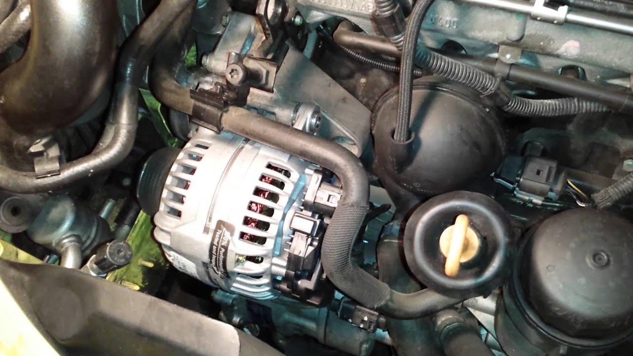 medium resolution of vw new beetle alternator fix