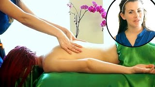 Christen Renee's Best Relaxing Back Massage Techniques. Relaxation Music & ASMR Voice