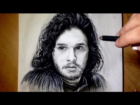 comment dessiner un visage tutoriel jon snow youtube. Black Bedroom Furniture Sets. Home Design Ideas