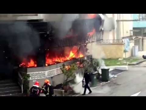 Fire Break Out @ Broadway Hotel Singapore - Full Footage