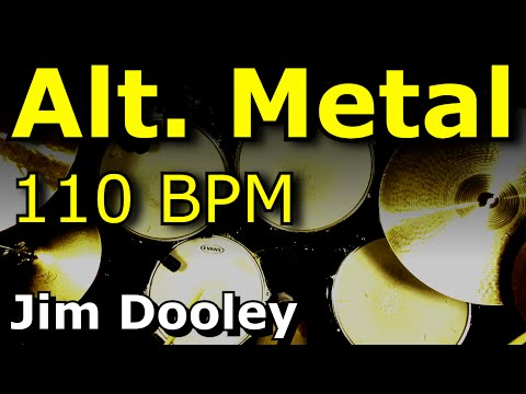 Alternative Metal Drum Beat 110 BPM JimDooley.net