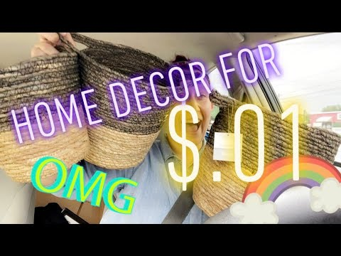 HOME DECOR For ONLY 1 CENT!?!? Penny Shopping At Dollar General!!!